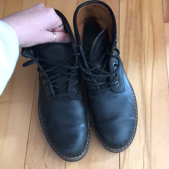 Roots Black Leather Winter Boots